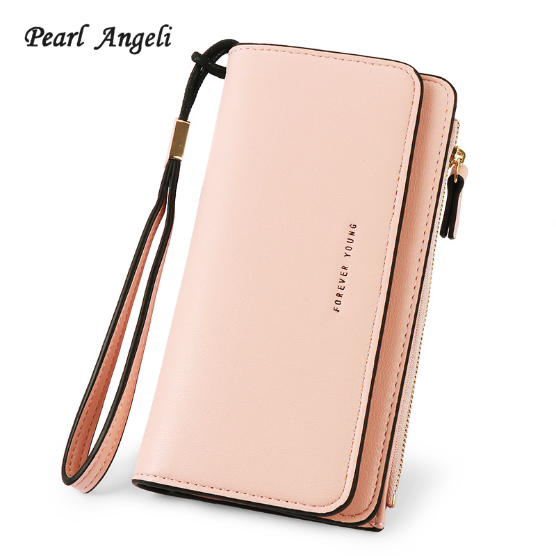 Pearl Angeli Long Style Women Purse PU Leather Wallet Female Zipper Pouch Large Capacity Clutch Women Wallet Carteira Feminina