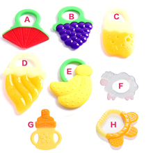 Baby Teether Fruit and Vegetable Shape Teether Silicone 2016 Brand New Baby Dental Care Toothbrush Training Baby Care Silicone