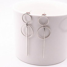 New Fashion Jewelry Accessories gold sliver Hollow Circle Design Drop Earring Best Gift For Lover's Girl Wholesale e0204