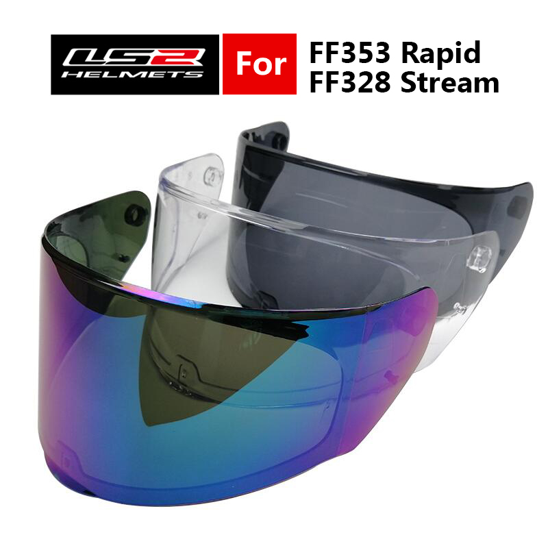 LS2 Helmets Visor For FF328 Stream & FF353 Rapid Full Face Motorcycle Helmet Replacement Face Shield For LS2 FF320 Moto Helmets