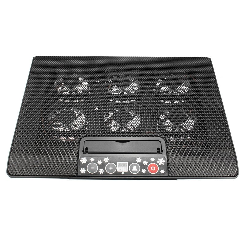 12-17 Inch USB Notebook Backlight Cooling Pad Laptop Radiator With 6 Mute Cooling Light Fans Computer Cooler Base Touch Screen