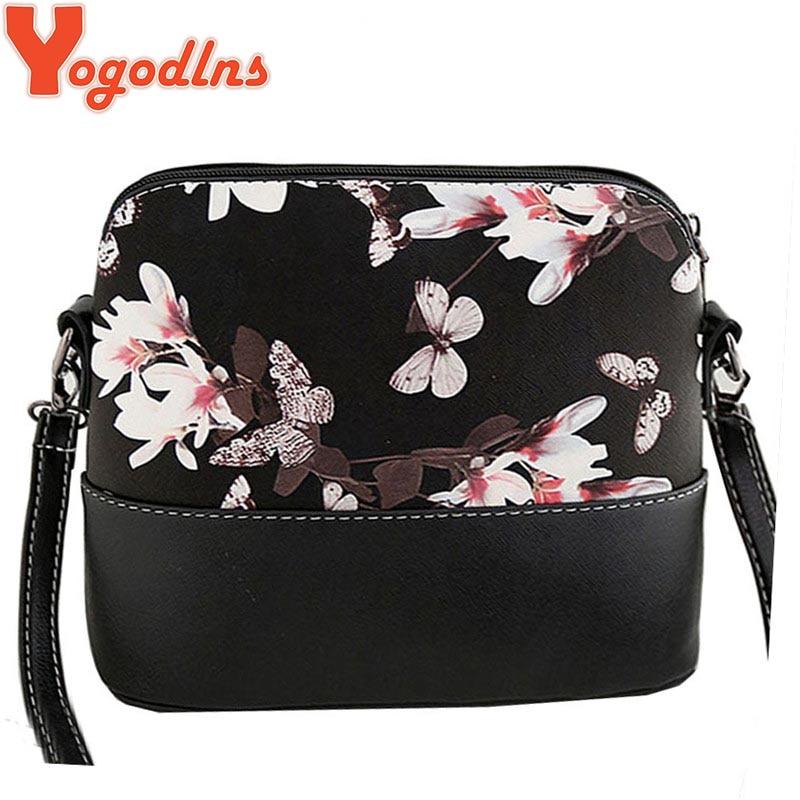Yogodlns New 2017 women messenger bags famous brand shell package women shoulder