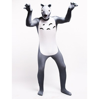 Adult Kids Totoro Cosplay Costume Zentai Superhero Bodysuit Suit Jumpsuits Totoro Onesie Couple Costume Fleece Pajamas Unisex