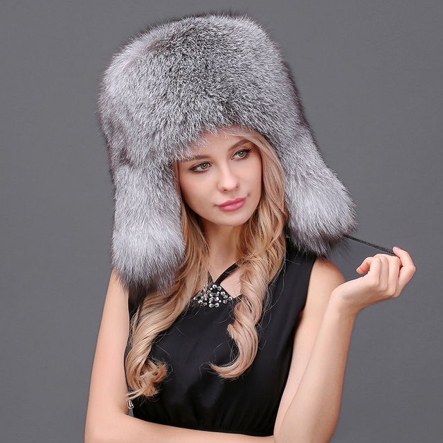 Uomo Donna Inverno Naturale Cappelli di Pelliccia di Volpe Super-Caldo  Reale Cappello di Pelliccia 053c18b62fcd