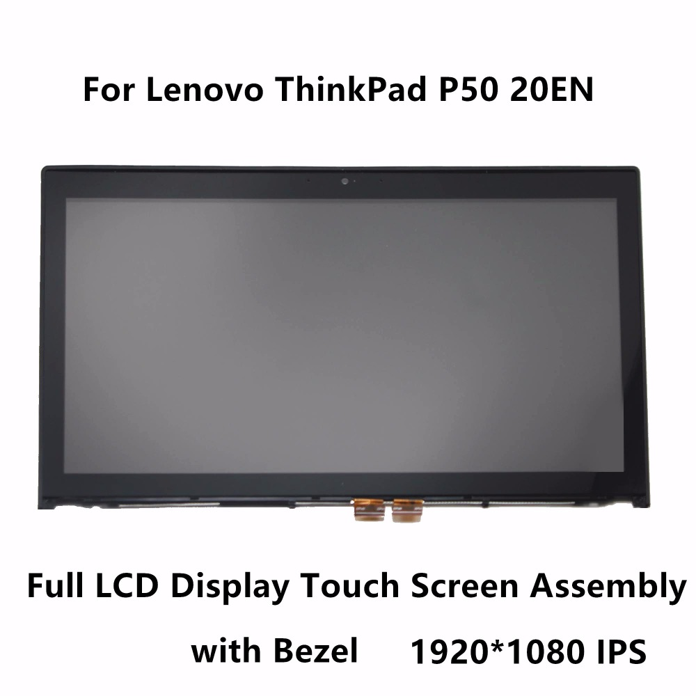 15.6'' IPS LCD Display Touch Digitizer Screen Glass Panel Assembly + Bezel NV156FHM-N42 For Lenovo ThinkPad P50 20EN 1920x1080 vibe x2 lcd display touch screen panel with frame digitizer accessories for lenovo vibe x2 smartphone white free shipping track