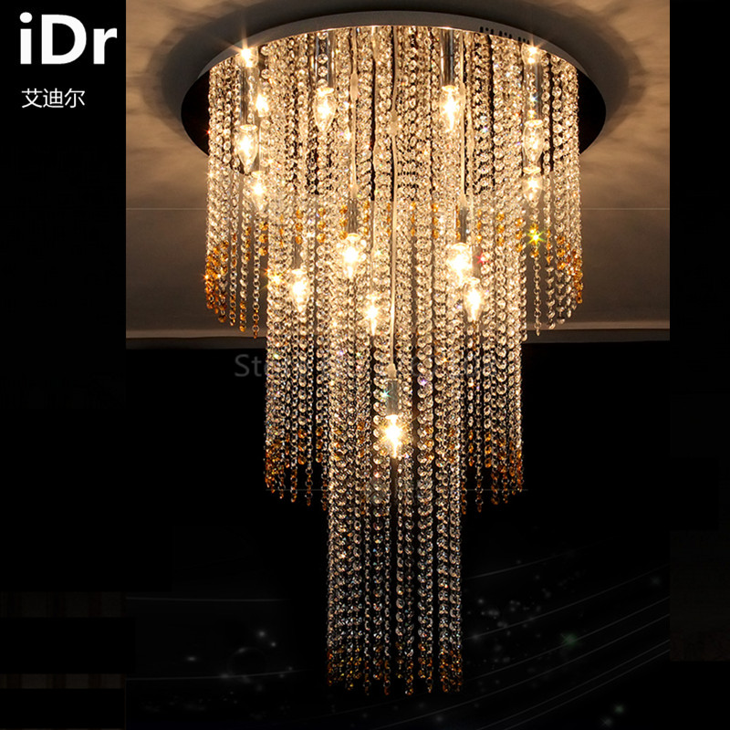 US $912.0 |LED lampada di cristallo rotondo salotto Lampadari camera da  letto ristorante moderno e minimalista atmosfera di illuminazione luce di  alta ...