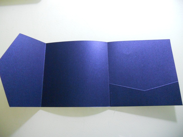 Blank Navy Blue Pocket Fold Wedding Invitations With Envelopes Top Quality Free Shipping Pa007 In Cards From Home Garden On Aliexpress