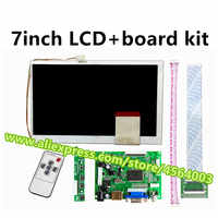 Placa controladora de pantalla LCD de 7 pulgadas, 60 Pines, 800x480, KR070PC5S, KR070PC7S, HDMI, VGA, 2AV, kit para Raspberry Pi