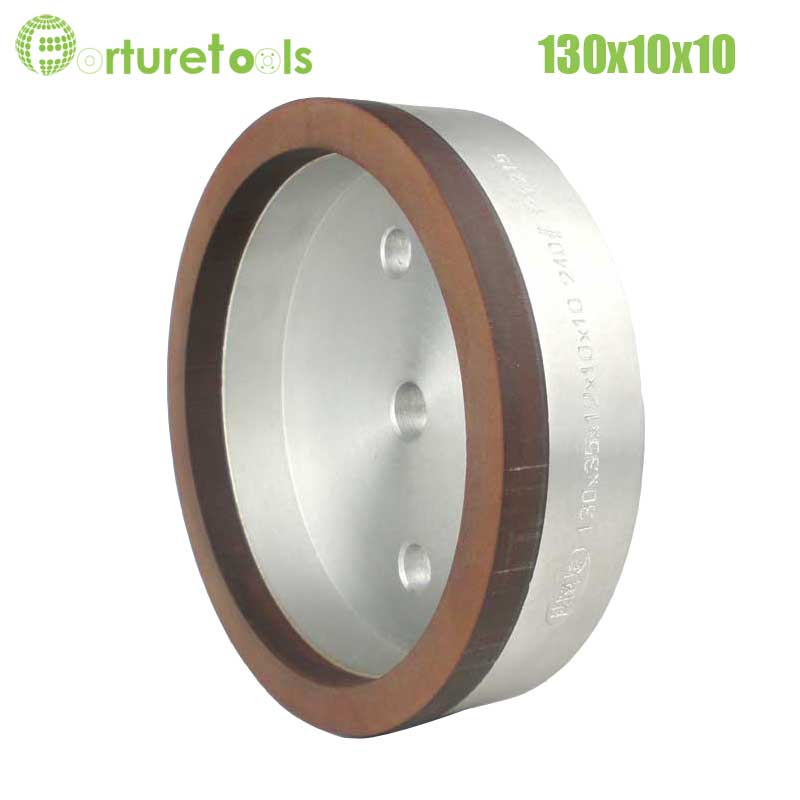 ФОТО 1piece 4# resinoid diamond wheels for glass straight line glass edger beveling machine Dia130x10x10 hole 12/22/50 grit 240 BL019