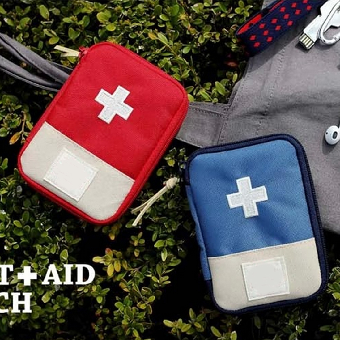 Adroit Small Storage Bag Medical Box Portable Outdoor Travel First Aid Kit Medicine Bag Home Emergency Survival Pill Case Bags Anker Suitable For Men, Women, And Children