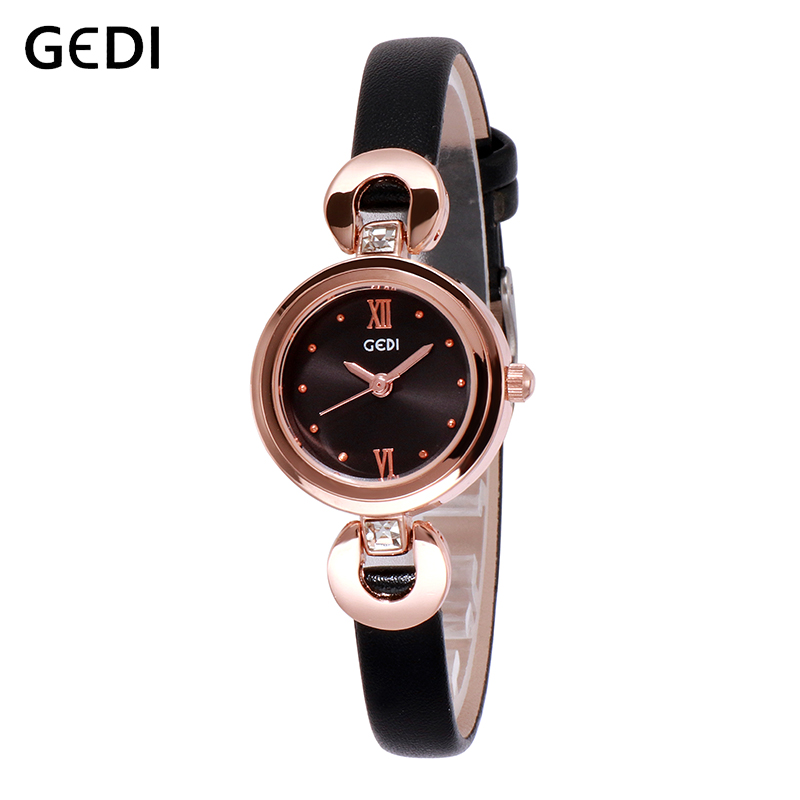GEDI Wrist Women Watches Luxury Female Clock Fashion Montre Femme 2019 Quartz Ladies Watch Relogio Feminino 8 MM Ultra-Thin New