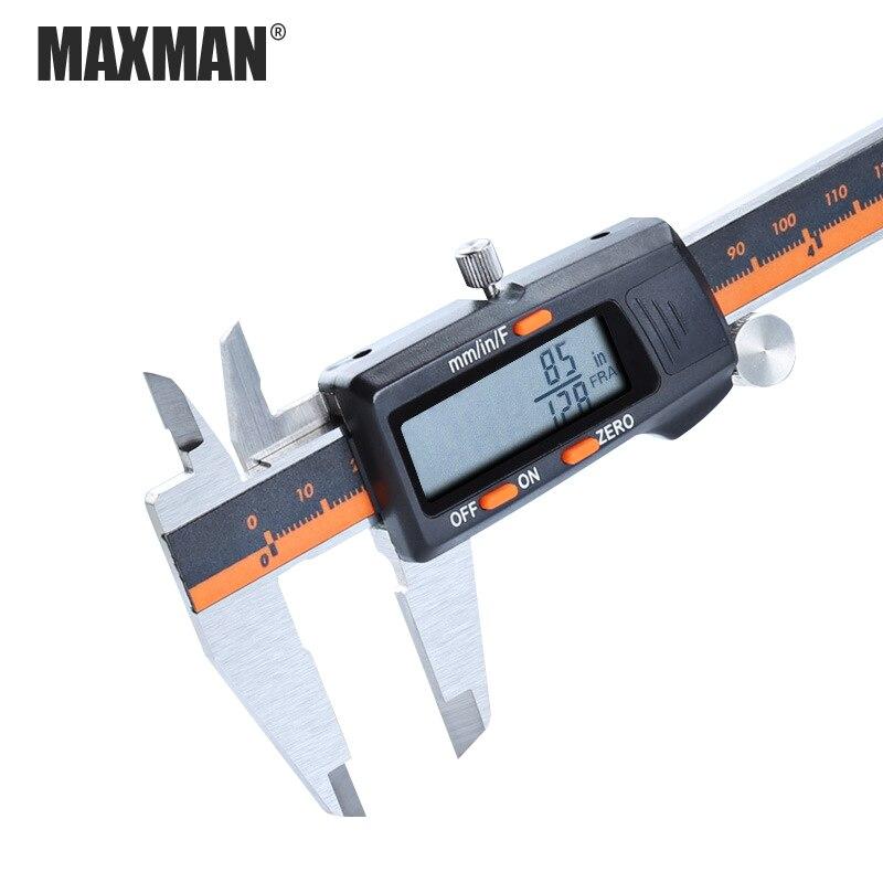 MAXMAN 0 150mm Acero inoxidable alta precisión electrónica Digital LCD Vernier calibrador y calibrador herramientas