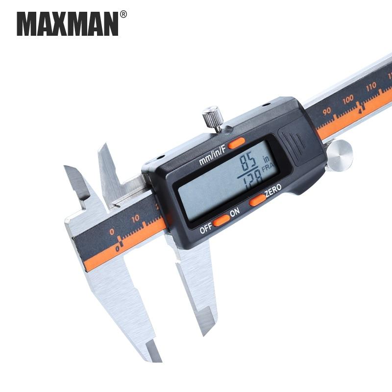 MAXMAN 0-150mm Stainless Steel High Precision Electronic Digital LCD Vernier Caliper Measuring & Gauging Tools