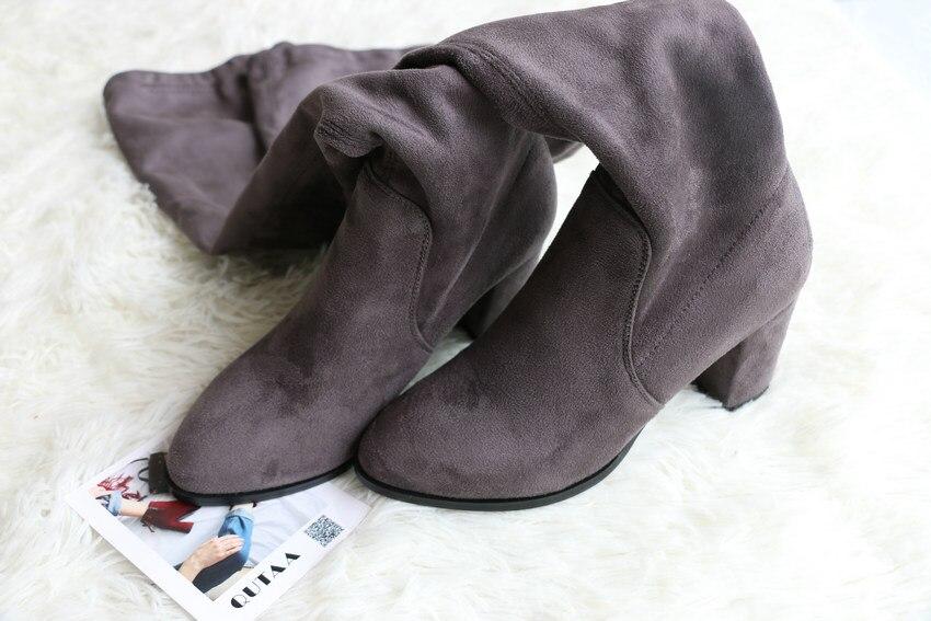 Women Over The Knee High Heel Winter Sexy Boots 42