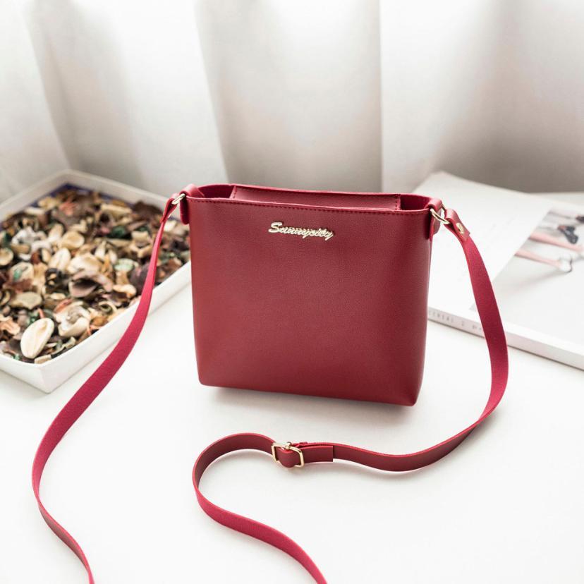 Transer модные Однотонная одежда Для женщин высокое качество кожаная сумка через плечо сумка BA монета телефон сумка Z6 ...