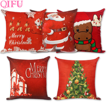 QIFU Merry Christmas Decorations For Home Decoration Christmas Ornaments Christmas 2018 Decor Pillow Case Happy New Year 2019