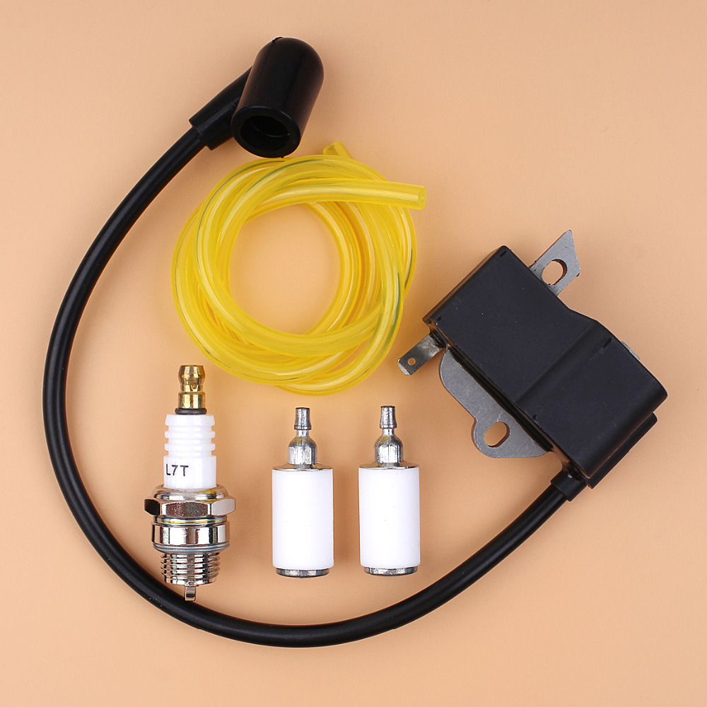 hight resolution of ignition coil spark plug fuel filter line kit for husqvarna 125e 125c 125l 125r 125rj 128r