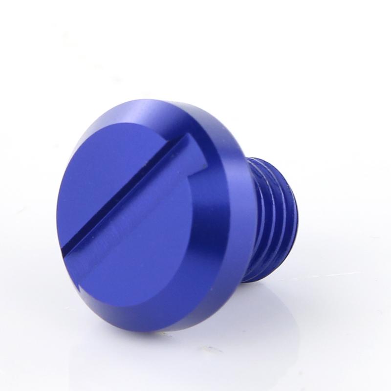 Aluminium Miroir Hole Plug pour Yamaha XSR900 YBR 125 MT 07 FZ 07 NMAX 125 bleu
