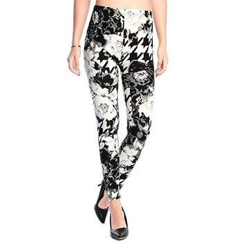 New 2019 Print Flower Leggings Leggins Plus Size Legins Guitar Plaid Thin Nine Pants Fashion Women Clothing Aptitud Trousers 2