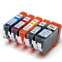 цена на 2set Compatible ink Cartridge PGI 450 CLI 451 for Canon IP7240 MG5440 MG5540 MG6440 MG6640 MG5640 MX924 MX724 IX6840 Printer