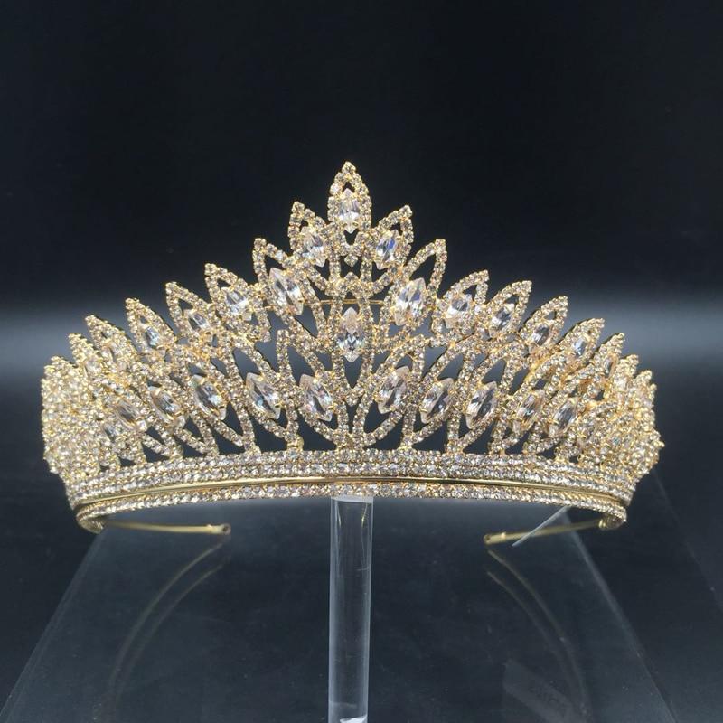 Image 2 - Crown Headband Classic Luxury Geometric Design Wedding Hair  Accessories Elegant For Women High Quality BC3103 Corona Princesabridal  tiara crowntiara crownfashion crown