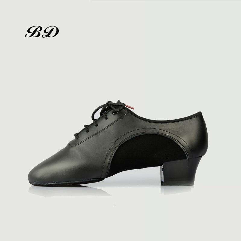 BD 459 CHAUSSURES DE DANSE Latine Chaussures de Salle De Bal HOMMES Chaussures Moderne JAZZ Slip-UP Déodorant Véritable En Cuir Stretch Talon 4.5 CM Semelle Souple CHAUDE