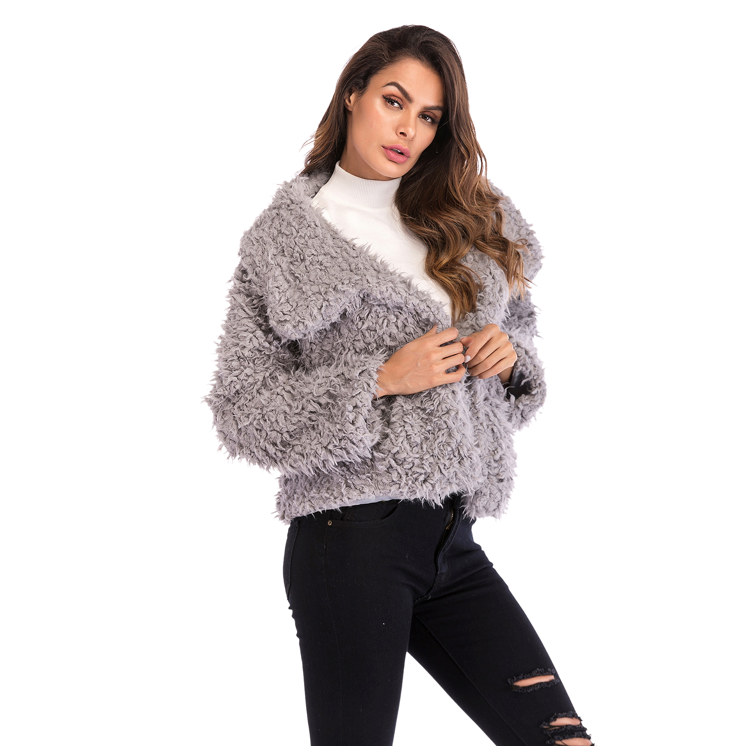 Aliexpress.com : Buy Winter Fuzzy Warm Long Sleeve Sweater