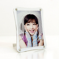 Free Standing Desktop Plexiglass Photo Block Frames With Magnetic Creative Photo Frame PF005