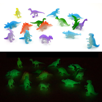 16Pcs/bag Mini Luminous Jurassic Noctilucent Dinosaur Toys Glow In The Dark Dinosaurs Baby Kids Toys for Children Novelty Model