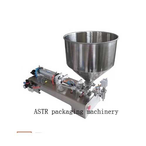 single nozzle head Paste filling machine large hopper Rotary Valve range 10-300ml quantitative filling and packaging equipment small bottle filling machine