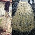 Великолепная Mesh Блестками Короткие Женщины Юбки Мода Юбки Женская Сексуальное Отвесное Тюль Юбки Миди Юбка faldas 61416
