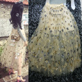 Gorgeous Mesh Sequined Short Women Skirts Fashion Skirts Womens Sexy Sheer Tulle Skirt Midi Skirt faldas   61416