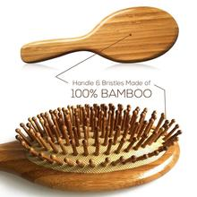 De Madera de primera calidad de bambú cepillo de pelo de mejorar el crecimiento del cabello de madera cepillo de prevenir la pérdida de cabello peine de dientes D50