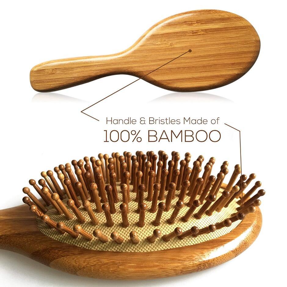 Бамбуковая щетка для волос D50, Бамбуковая расческа для предотвращения выпадения волос