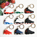 Мини-Иордания 13 Брелок Для Мужчин Женщина Спортивные Тапки Брелок Брелок Key Holder Брелок Подарки