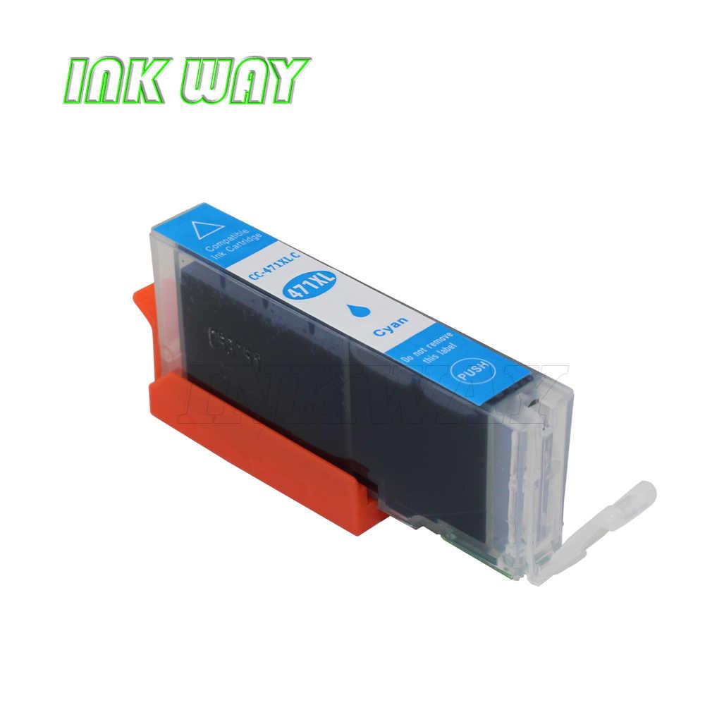 CARA 16 pack PGI-470 CLI-471 TINTA kompatibel ink Untuk canon PIXMA MG7740 TS8040 TS9040 printer
