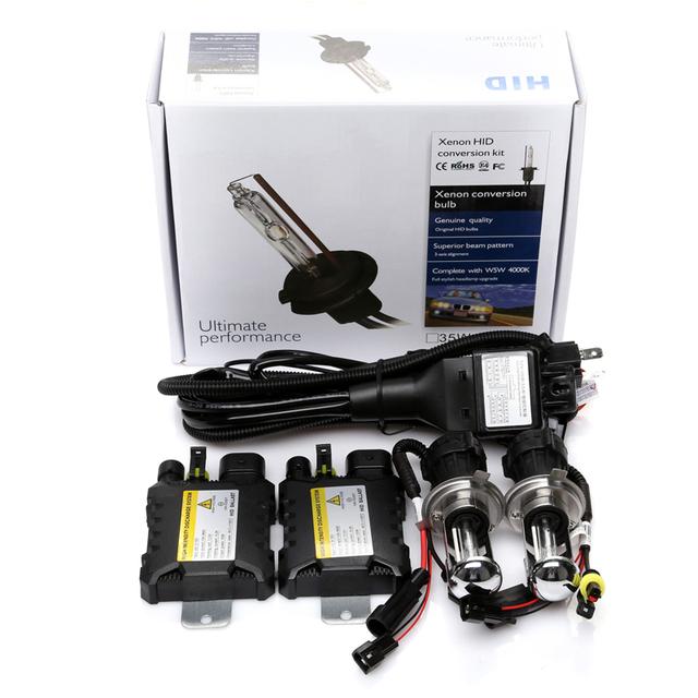 2016 Mejor precio delgado kit ocultado bixenon h4 h/l luz xenón de la viga 12 v 35 w del coche de la lámpara H4 H13 9004 9007-3 H/L bixenon Haz 35 w
