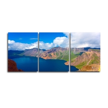 Laeacco 3 Panel Natural Landscape Mountain Posters Prints Canvas Calligraphy Painting Wall Art Home Living Room Decor