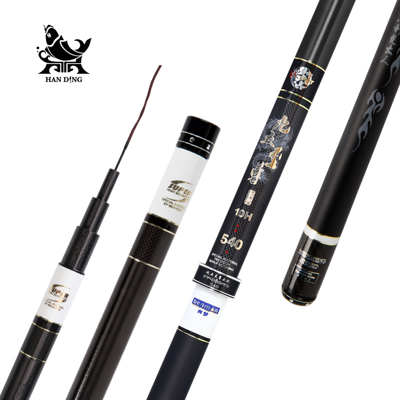 Handing 10H pesca Stream Fishing Rod Carbon Fiber Telescopic fishing rod Carp Feeder Fishing Rod Ultra Light Taiwan Fishing rod goture carbon fiber telescopic fishing rod 8m 9m 10m 11m 12m long ultra hard hand stream pole for carp fishing accessories