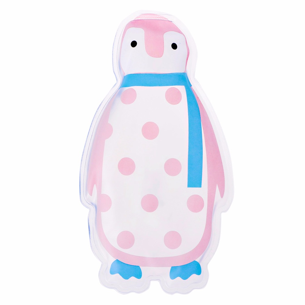 THINKTHENDO 1Pc Cute Penguin Shaped Thicken Gel Reusable Cool Ice Pack High Care Pain Relief New ...