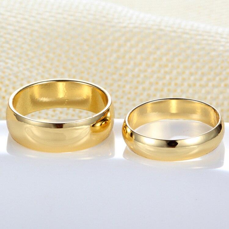 זוג טבעות זהב אירוסין טבעת לגברים נשים ברית Casamento Bague Mariage Hommes Alianca Anillo Alien תכשיטי חתונה