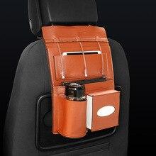 PU Leather Car Seat Back Storage Organizer Multipurpose USB Charger for Dodge Penault Subaru Mitsubishi interior accessories