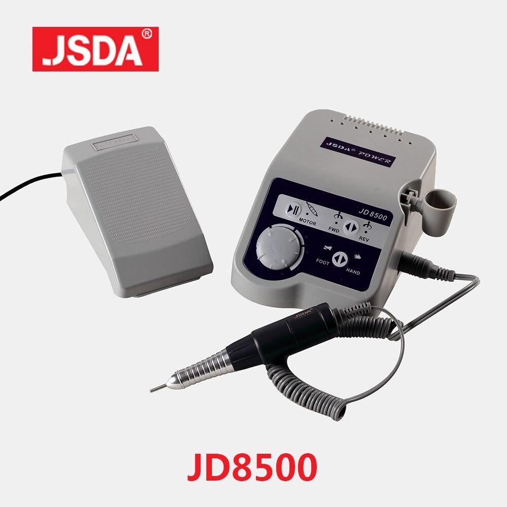 Usine Professionnels JSDA JD8500 Électrique Nail Forage Manucure Pédicure Machine-Outil Polisseuse Ongles Art Matériel 65 w 35000 rpm
