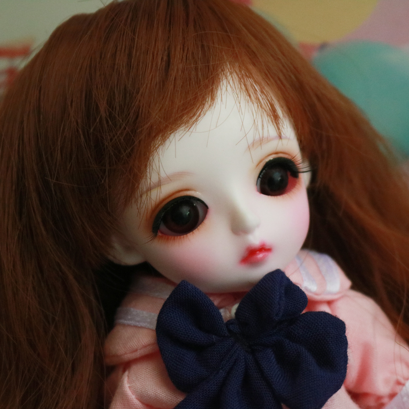 1/6 BJD Doll BJD/SD Lina Baby Miu Joints Doll Lovely Resin Doll With Glass Eyes For Baby Girl Birthday Gift 1 8 bjd doll bjd sd fashion cute miu with eyes for baby girl gift full set doll clothes shoes wig like picture