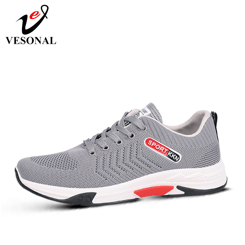Men's Shoes Vesonal 2019 Brand Spring New Comfortable Sneakers Men Shoes Patchwork Breathable Lace-up Male Shoes Casual Walking Footwear 603 Shoes