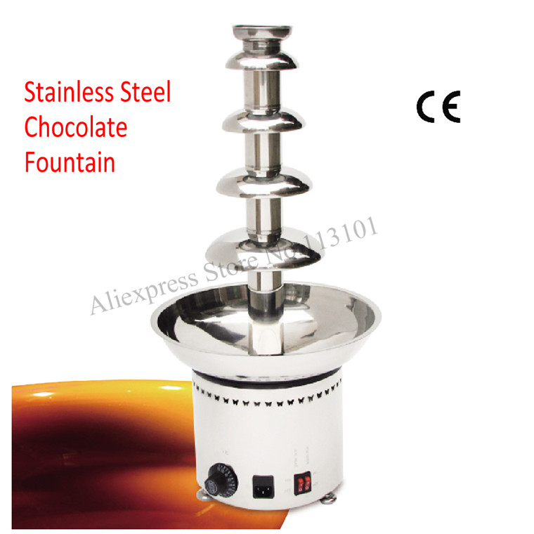Chocolate fountain machine Five levels stainless steel chocolate fountain dispenser 5 levels with thermostat passages 2ed all levels interchange 3ed passages 2ed dx2