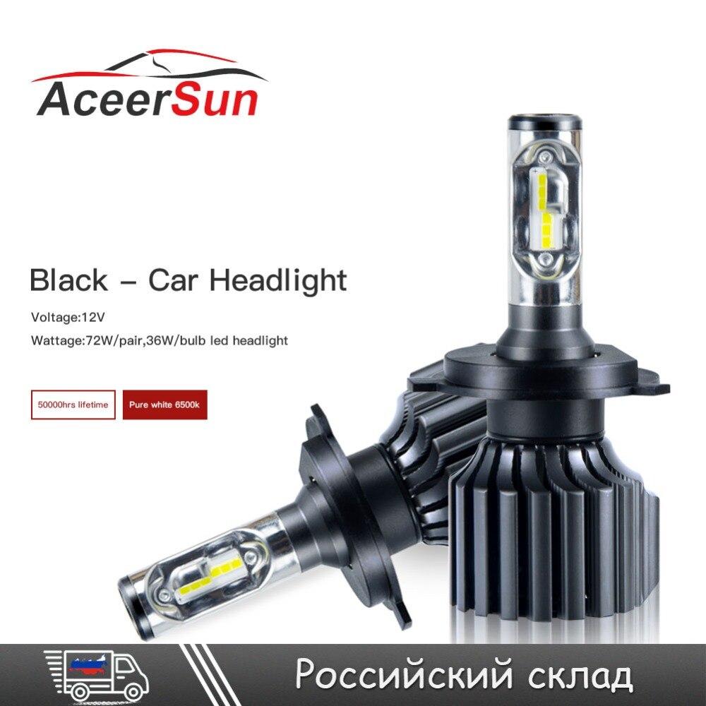LED H4 H7 H11/H8/H9 H13 H15 All in one Car Led Headlights Hi/Lo Beam 9005 9006 H1 H3 D1 12V 72W 12000LM Fog Light Lamps Bulbs