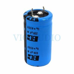 Image 1 - DIY Amplifikatör Aksesuarları HIFI Kondansatör VISHAY BC 450 V 220 UF Kapasite Amper elektrolitik kondansatör Filtresi 1 ADET Ücretsiz Kargo