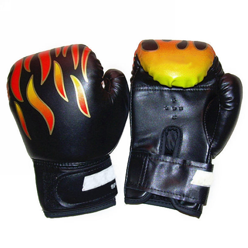 Professional 1 Pair Child Boys Flame Boxing font b Gloves b font Punch For Kids Beginner