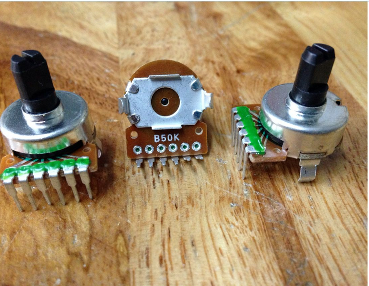 Переключатель потенциометра 161, двойной 6-контактный полуось B50K, длина 10 мм, усилитель звука, громкости, переключатель потенциометра